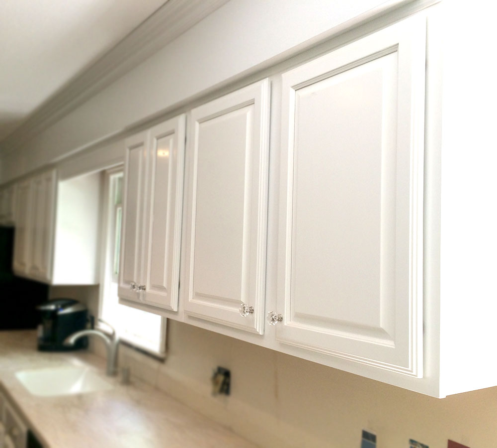 Tinted Lacquer Kitchen Cabinets