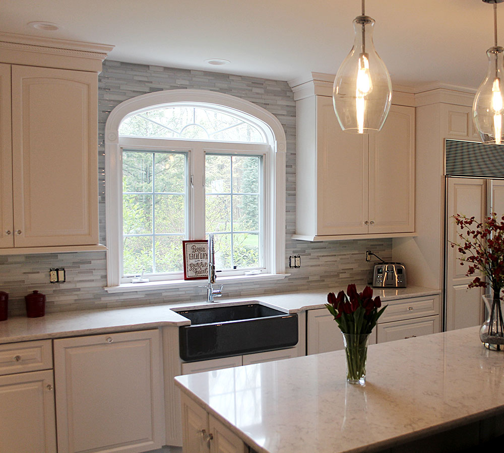 Fine Finish White Tinted Lacquer Cabinets Ideas | Classic ...