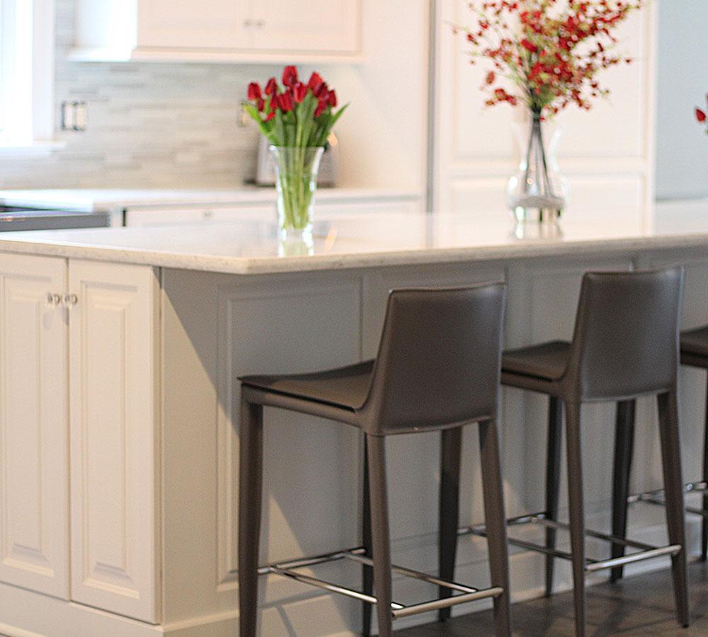 Fine Kitchen Cabinets: Fine Finish White Tinted Lacquer Cabinets Ideas