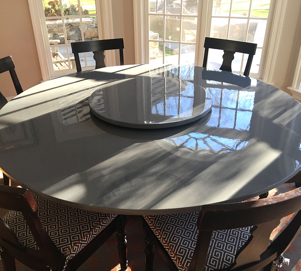 Cherry Table Sprayed in Gray Tinted Lacquer - Classic