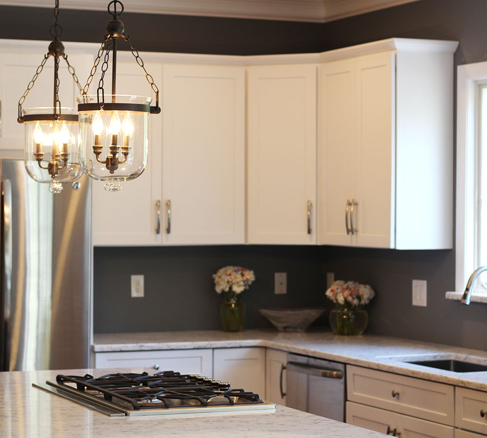 Refinished Maple Cabinets In White Tinted Lacquer Classic Refinishers