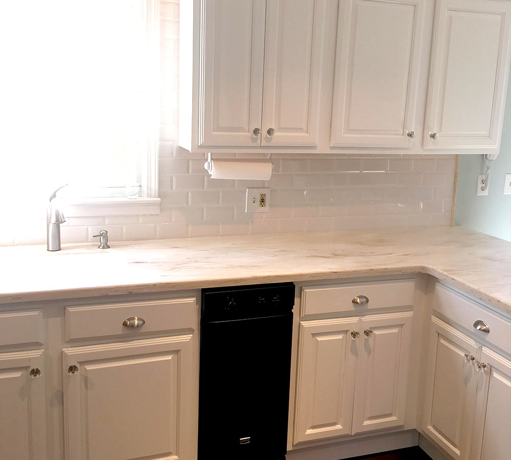 White Stain Kitchen Cabinets: Maple Cabinets Stained In White Tinted Lacquer